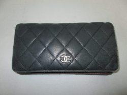 【CHANEL】 シャネル マトラッセ 財布のスレ傷、染め直しのご依頼です。