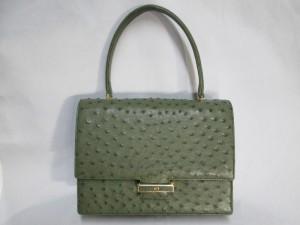 【鞄修理】オーストリッチバッグ べたべた発生で内袋交換のご依頼です。