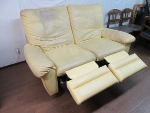 【sofa】リクライニング ソファ 傷修理 染め直し