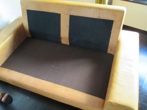 【sofa】美容室開業ソファの染め直しのご依頼です。