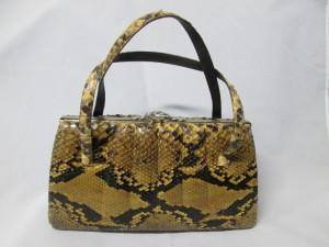 【Python bag】御祖母様のパイソンバッグのリメイクのご依頼です。