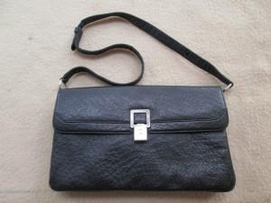 【ostrich】オーストリッチ ハンドバッグ オリジナル金具を磁石ホックに交換しました。