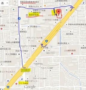 【京都本店】アクセスご案内② マクドナルド五条桂店から見えるところに看板付けました。